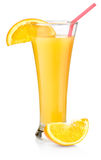 Orange juice in a tall glass Stock Image