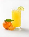 Orange juice and tangerine Royalty Free Stock Image