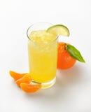 Orange juice and tangerine Stock Photo