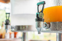 Orange Juice in tank Stock Photo