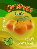 Orange juice template packaging design vector illustration. Royalty Free Stock Images