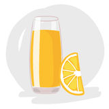 Orange juice vector Stock Image