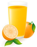 Orange juice vector illustration Royalty Free Stock Photography