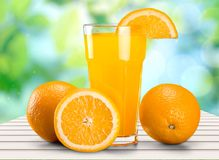 Orange Juice. Juice Orange Vitamin Pill Fruit Freshness Glass Stock Photography