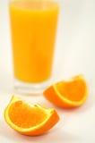 Orange juice and wedges Royalty Free Stock Image
