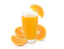 Orange juice  on white Royalty Free Stock Photo