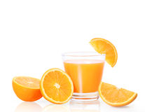 Orange juice  on white Stock Image