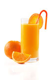 Orange juice on white Royalty Free Stock Images