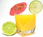 Orange Juice With Lime Royalty Free Stock Images