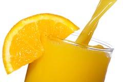 Orange Juice With Slice Of Orange Stock Images