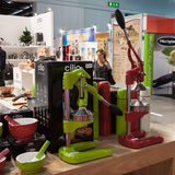 Orange juicers at Macef home show in Milan Stock Photography
