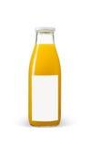 Orange juices bottle with blank label on white background Royalty Free Stock Images