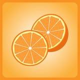Orange. Juicy orange on a bright orange background Stock Image