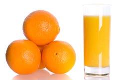 Orange and juise Stock Images