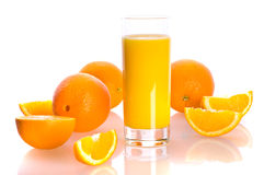 Orange and juise Stock Photos