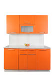 Orange kök Arkivfoton