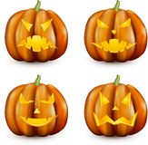 Orange Kürbise 3d Halloween eingestellt Stockbilder