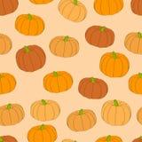 Orange Kürbismustervektor lizenzfreies stockbild