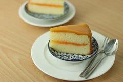 Orange kaka för bageri Arkivfoton