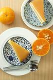 Orange kaka för bageri Royaltyfri Fotografi