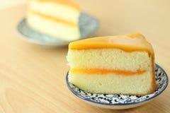 Orange kaka för bageri Fotografering för Bildbyråer