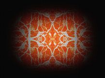Orange kaleidoscope pattern Stock Photography