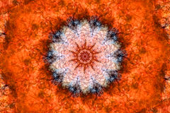 Orange Kaleidoskop Stockfotografie