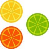 Orange, Kalk, Zitrone Lizenzfreies Stockbild