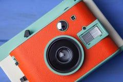 Orange kamera Royaltyfri Foto
