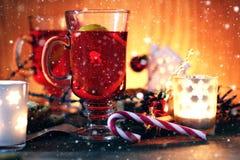 Orange kanelbrunt socker för jultoddy Royaltyfri Bild