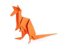 Orange kangaroo of origami. Royalty Free Stock Photography