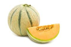Orange Kantalupemelone Lizenzfreie Stockbilder
