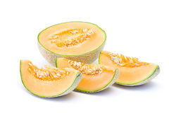 Orange Kantalupemelone lizenzfreies stockbild