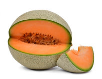 Orange Kantalupenmelone Lizenzfreie Stockfotografie