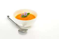 Orange Karotte-Suppe Lizenzfreies Stockfoto