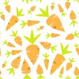Orange Karotten des nahtlosen Musters auf einem Weiß Lizenzfreie Stockfotos