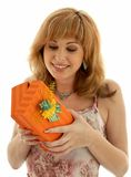 Orange Kasten #2 Lizenzfreies Stockbild