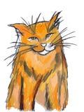 Orange Katze lizenzfreie abbildung