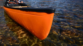 Orange kayak Royalty Free Stock Photos