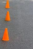 Orange Kegel Stockfotos