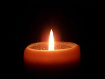 Orange Kerze stockbild