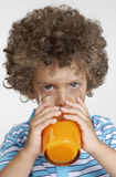 Orange kid. Royalty Free Stock Photo