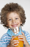 Orange kid. Royalty Free Stock Image
