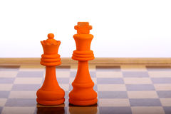 Orange king and Queen Royalty Free Stock Photography