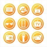 orange Kinozeichen lizenzfreie abbildung