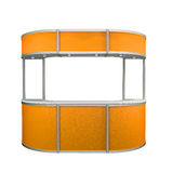 Orange kiosk Royalty Free Stock Photography