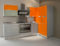 Orange kitchen Royalty Free Stock Photography
