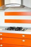 Orange kitchen Stock Images