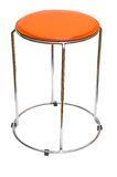 Orange kitchen stool. Modern orange kitchen stool made of metal isolated on withe background Stock Image