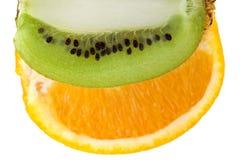 Orange and kiwi Stock Photography
